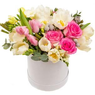 """Цветы в коробке """"Цветник"""""""