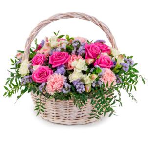 """Цветы в корзинке """"Объятия любимой"""""""