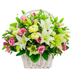 """Цветы в корзинке """"Весеннее настроение"""""""